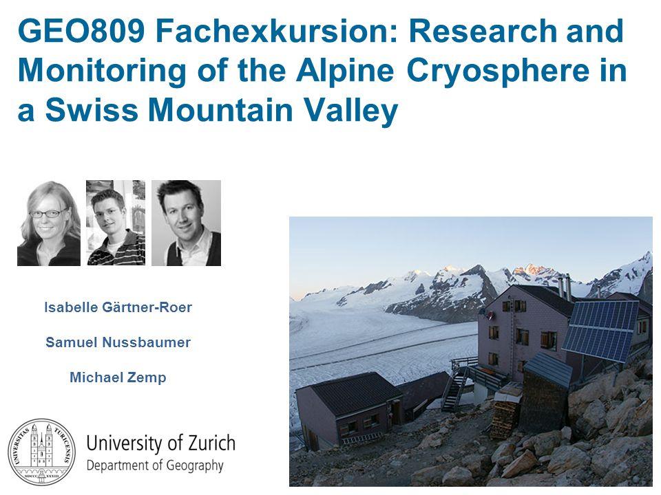 Excursion route (1) Grindelwald (1034 m ü.M.) (2) Unt.