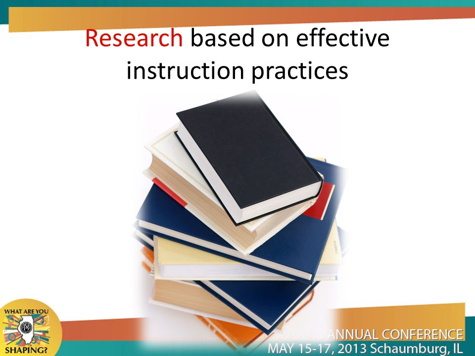 Research based on effective instruction practices