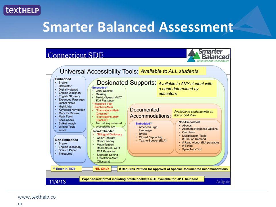 www.texthelp.co m Smarter Balanced Assessment