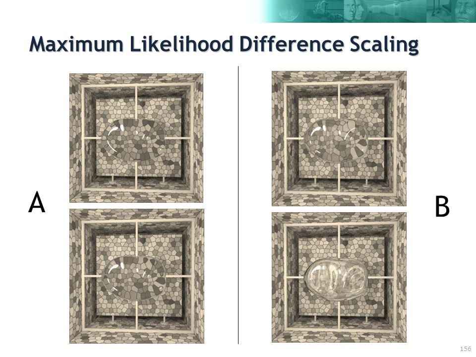 156 Maximum Likelihood Difference Scaling A B