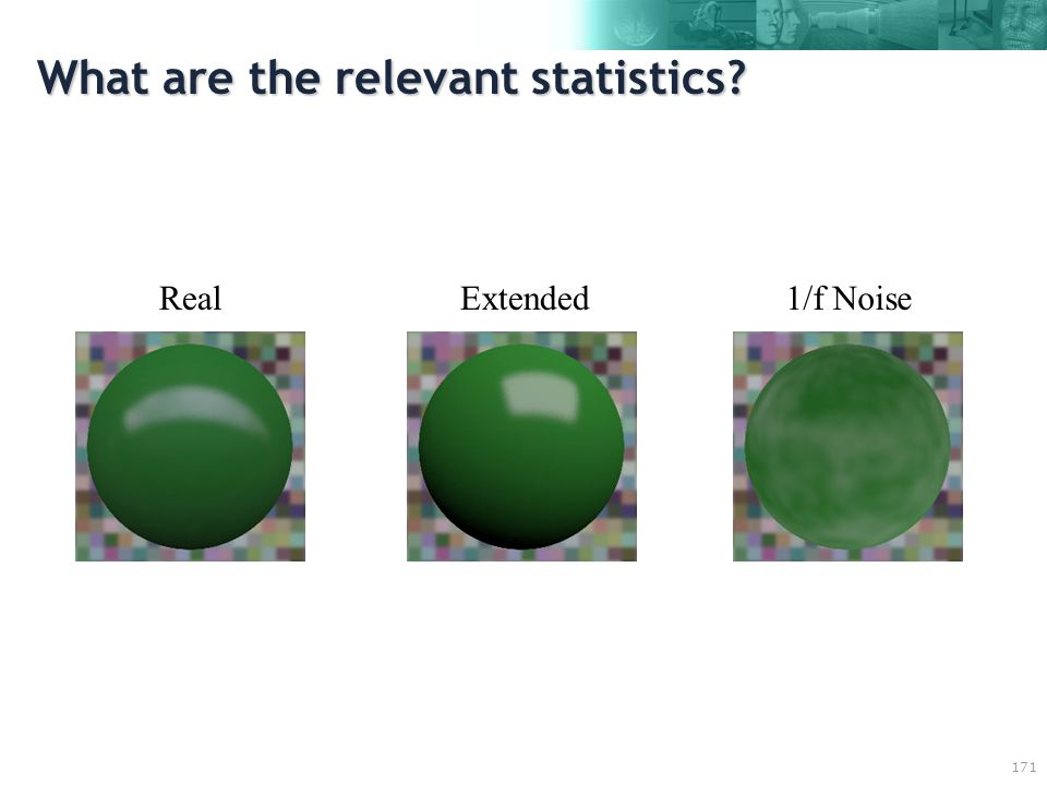 171 What are the relevant statistics RealExtended1/f Noise