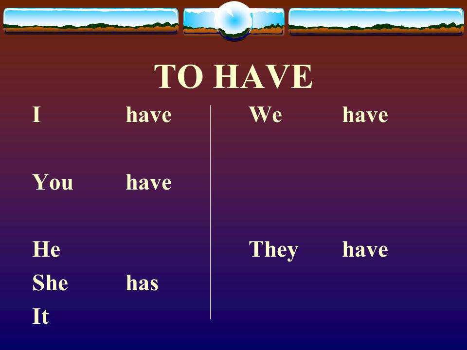 """The Verb TENER  Here is the verb """"To Have"""" in English."""