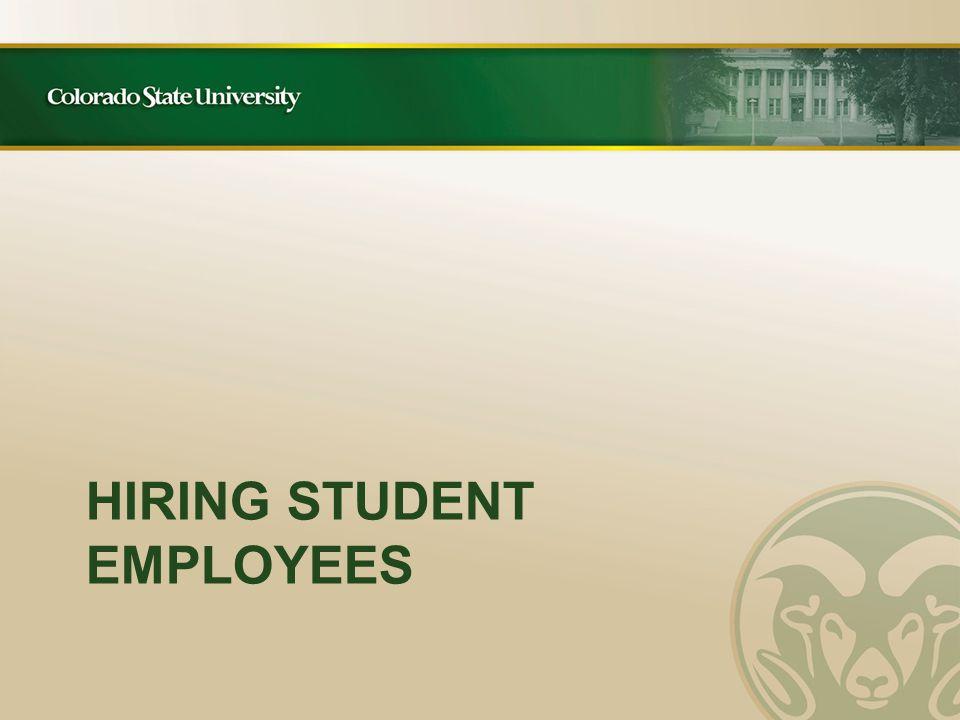 REMINDER – Confirm Work-Study Award each academic year.