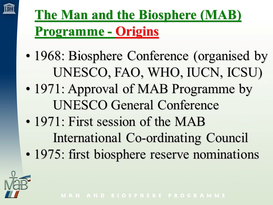 Hallmark of Biosphere Reserves: three functions Each Biosphere Reserve is intended to fulfil three basic functions, which are complementary and mutually reinforcing.