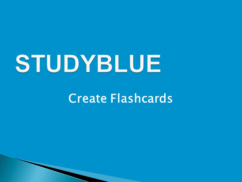 Create Flashcards