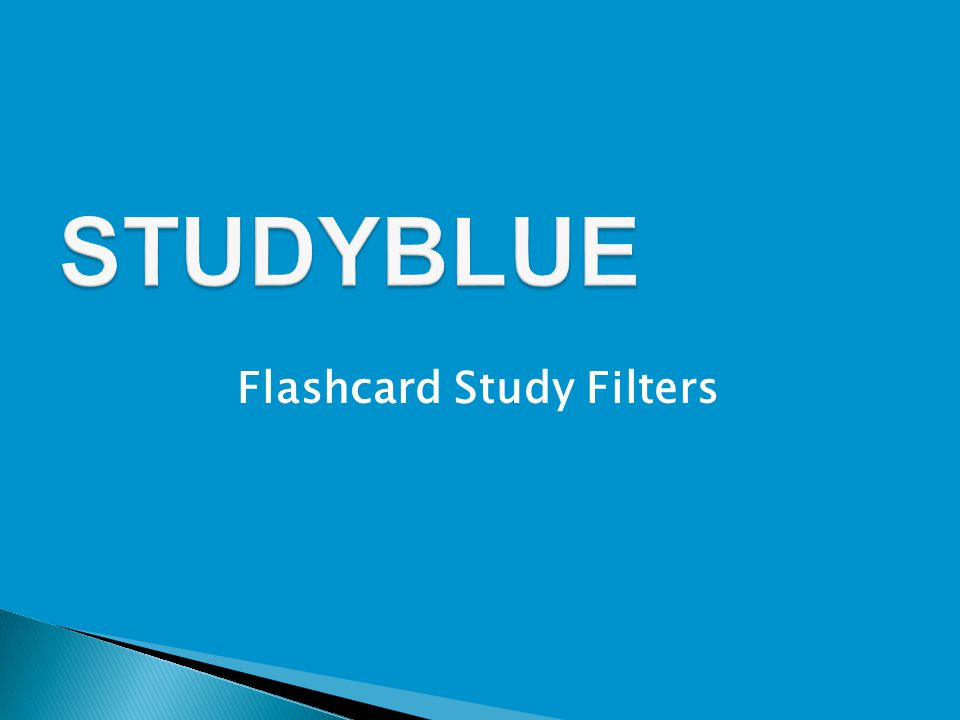 Flashcard Study Filters