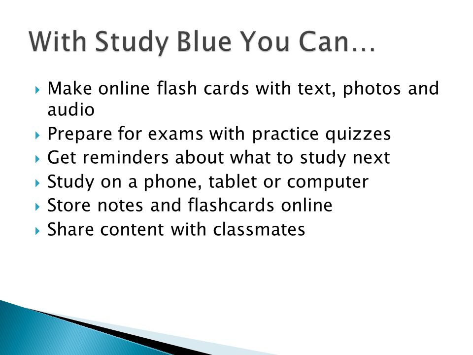 From your Backpack, choose Make Flashcards .