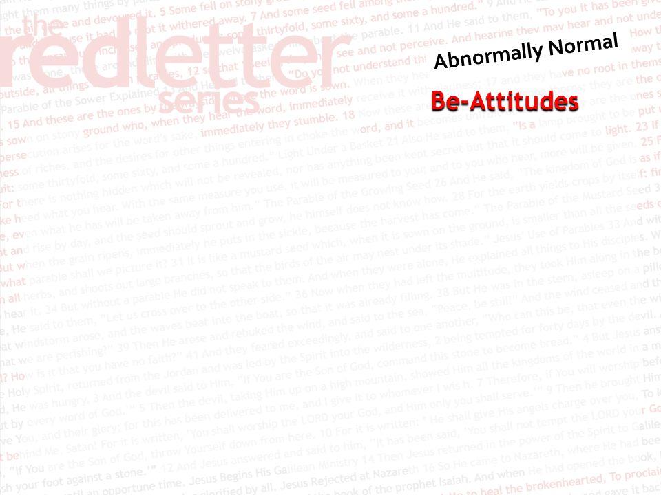 Be-Attitudes