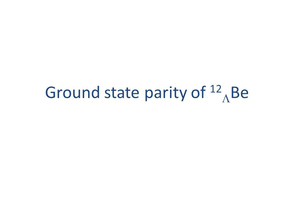 Ground state parity of 12  Be