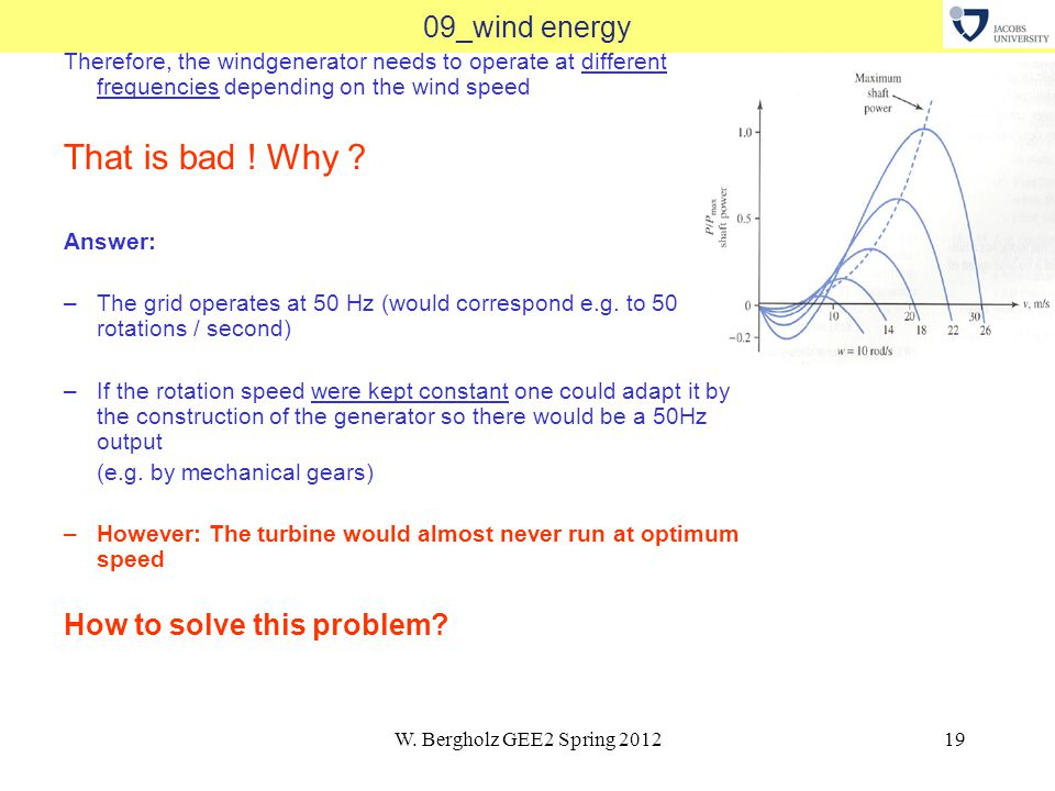 W.Bergholz GEE2 Spring 201220 09_wind energy Answer 1: Use Power Semiconductors.