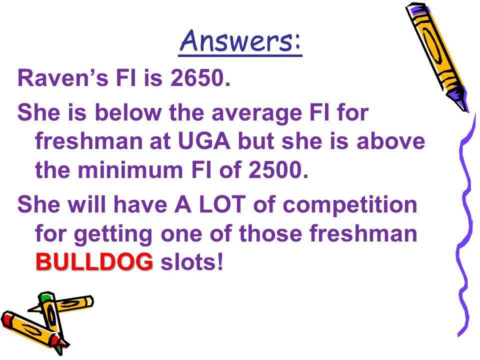 Raven's FI is 2650.
