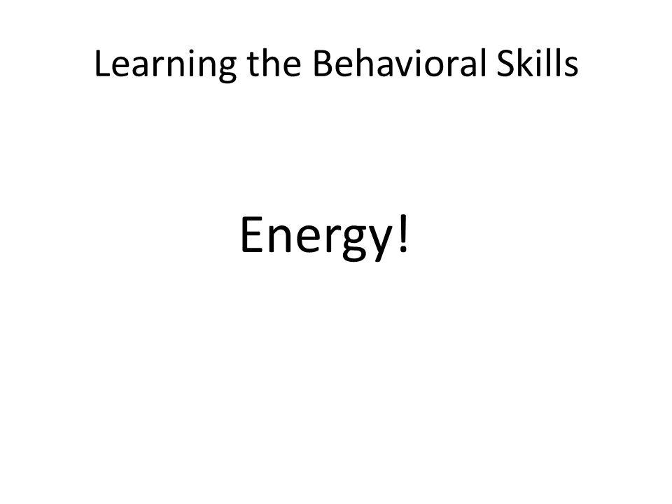 Learning the Behavioral Skills Energy!