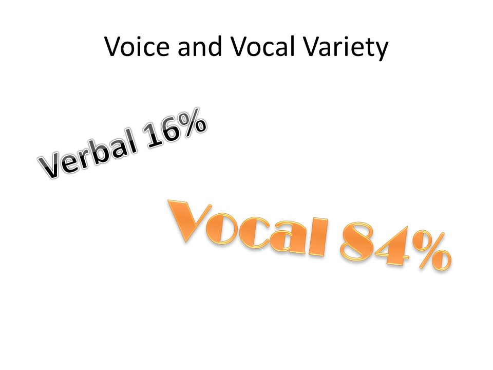 Voice and Vocal Variety