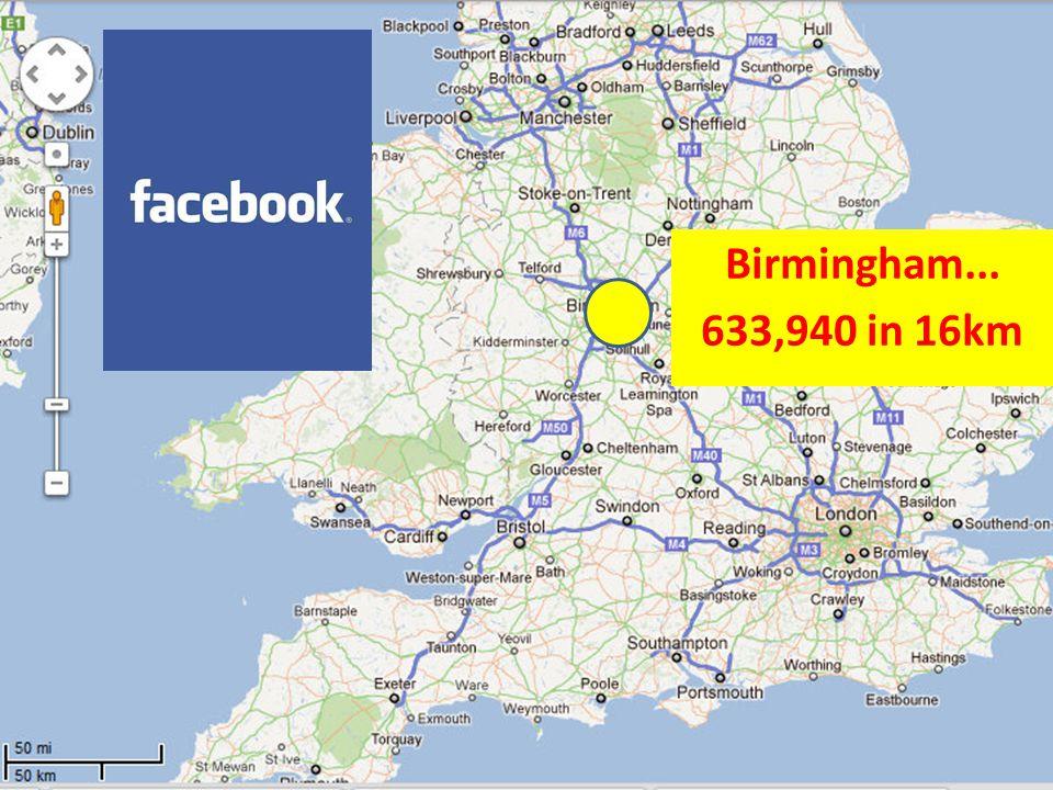 Birmingham... 633,940 in 16km