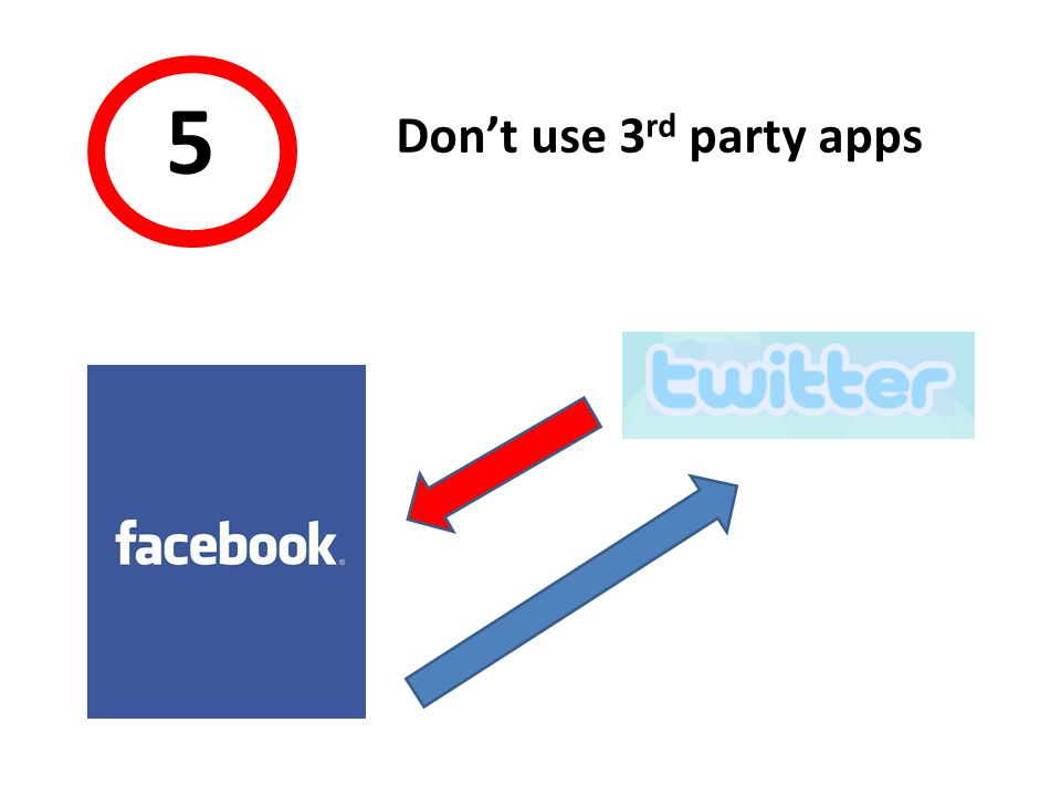44 5 Don't use 3 rd party apps