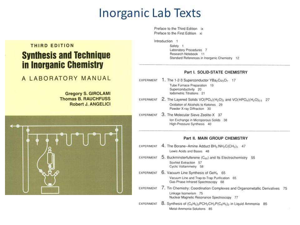 Inorganic Lab Texts