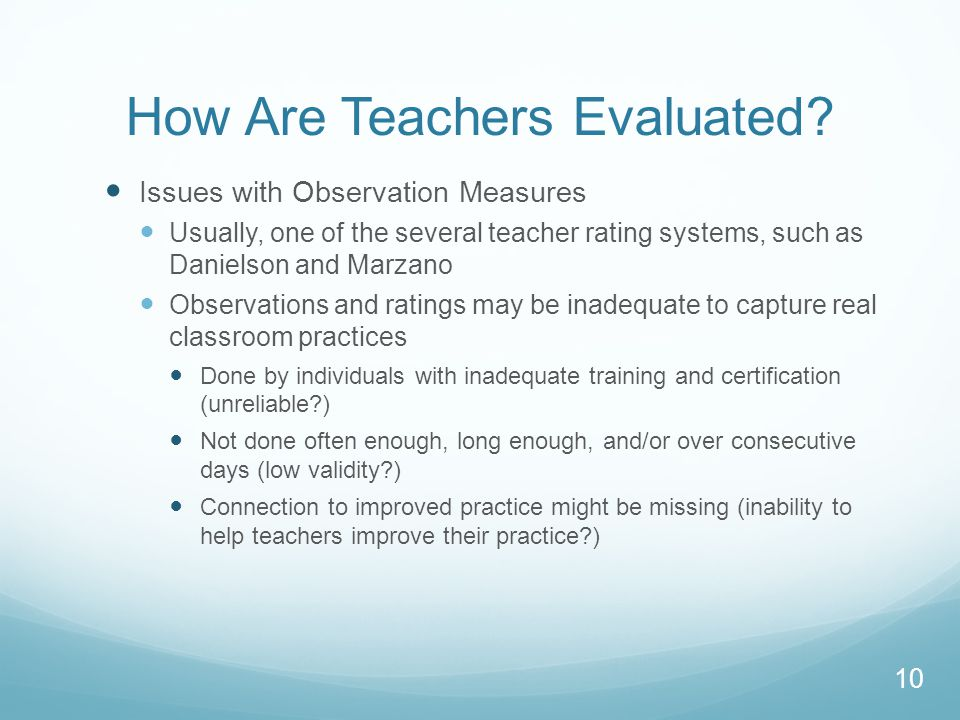 How Are Teachers Evaluated.