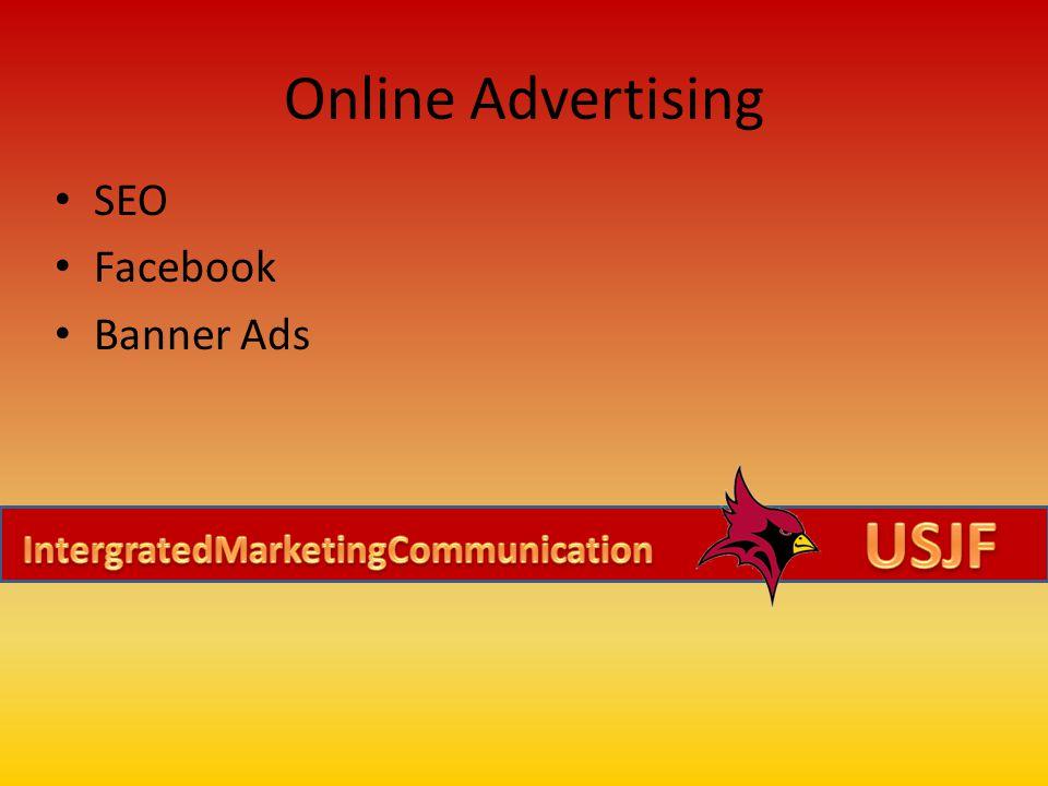 Online Advertising SEO Facebook Banner Ads