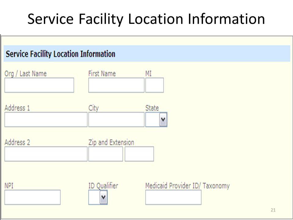 Service Location and Attachments 20
