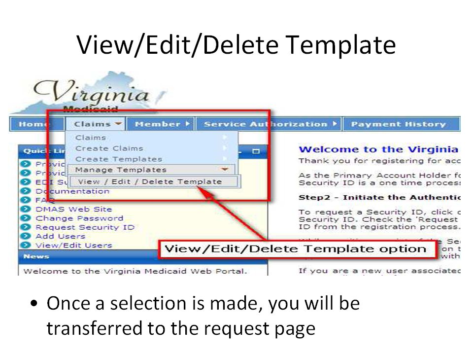 View/Manage/Delete Templates 35
