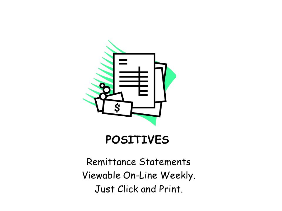 POSITIVES Templates can be set up & personalized to make billing easier.