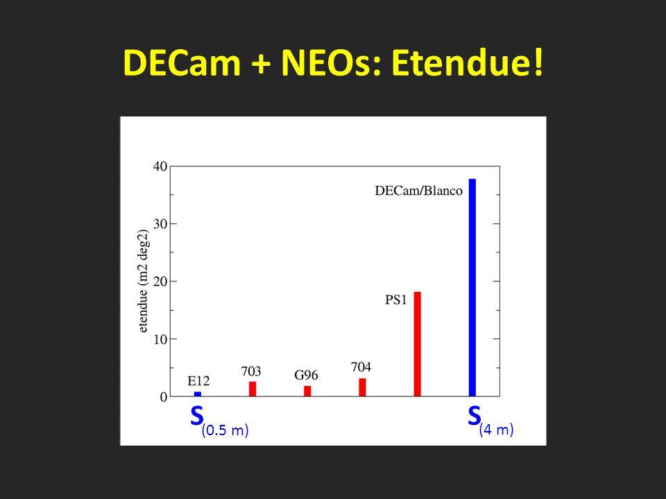 DECam + NEOs: Etendue! SS (0.5 m) (4 m)