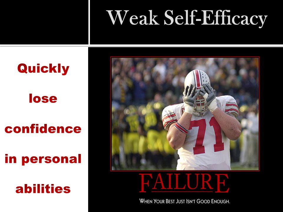 Weak Self-Efficacy