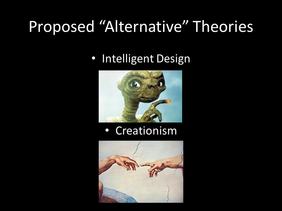 "Proposed ""Alternative"" Theories Intelligent Design Creationism"