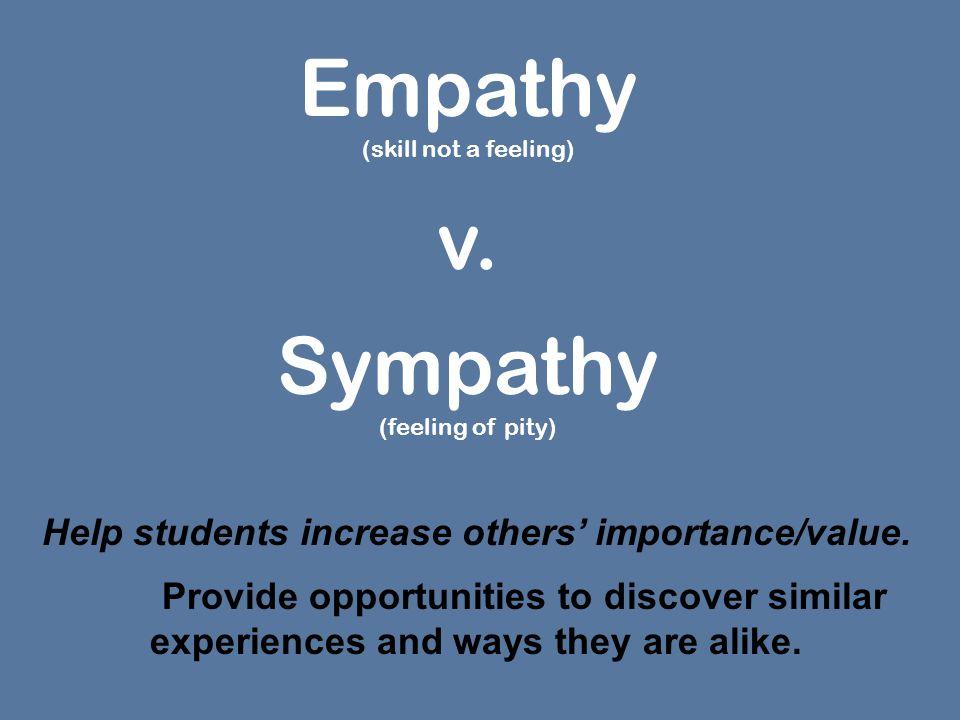 Empathy (skill not a feeling) v.