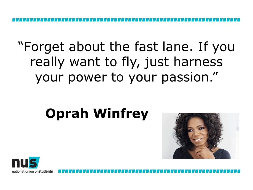 Forget about the fast lane.