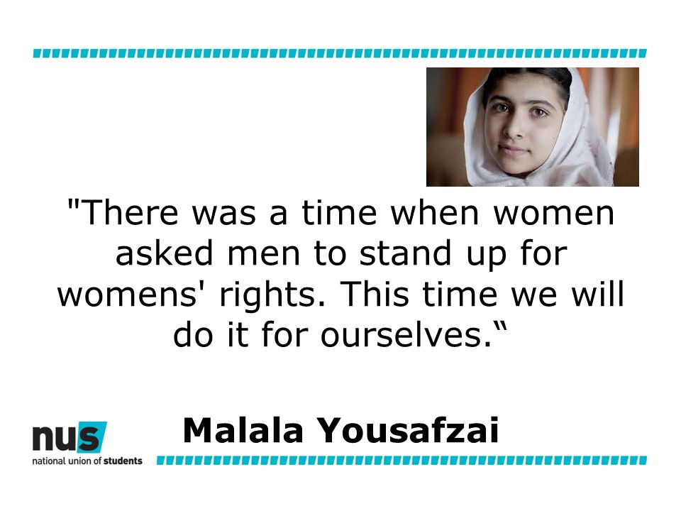 There was a time when women asked men to stand up for womens rights.