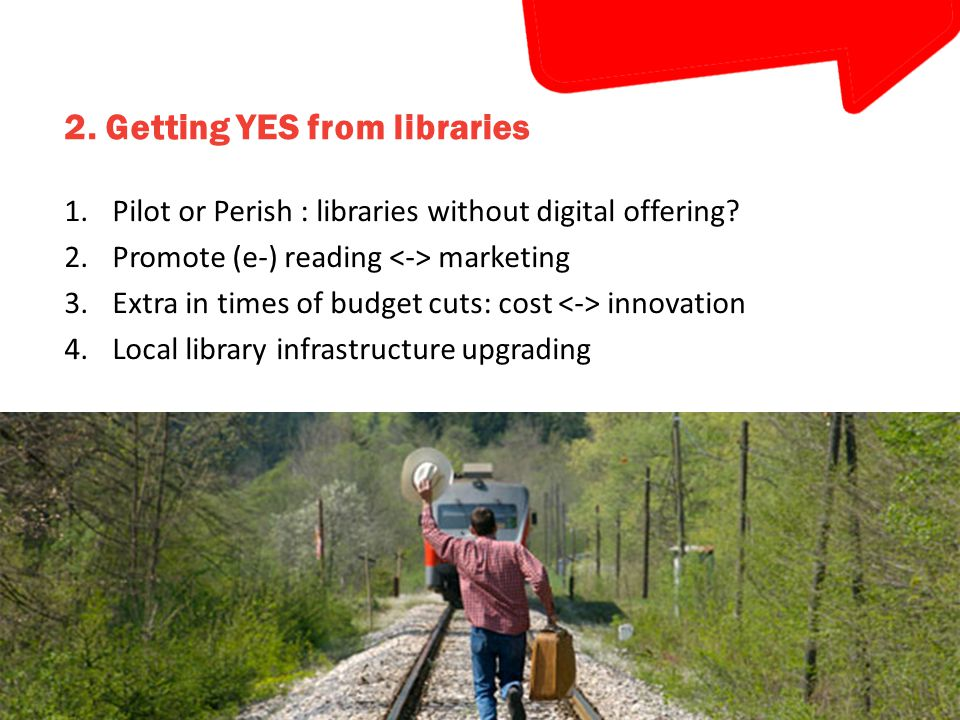 The e-book lending process / modules Web Presentation on local website Widget platform SSO OAuth infrastructure Library Admin pages Rules Loan management Logging & reporting Reader Delivery Online reader + App