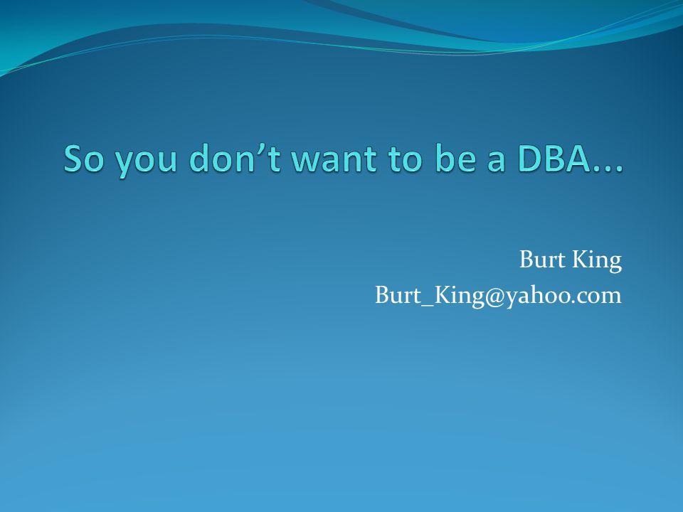 Burt King Burt_King@yahoo.com