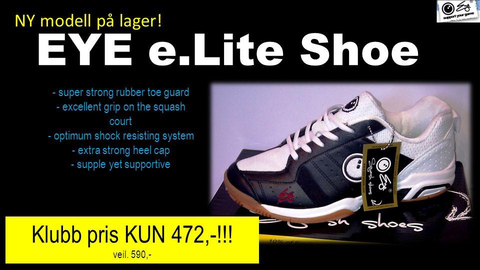 NY modell på lager. EYE e.Lite Shoe Klubb pris KUN 472,-!!.