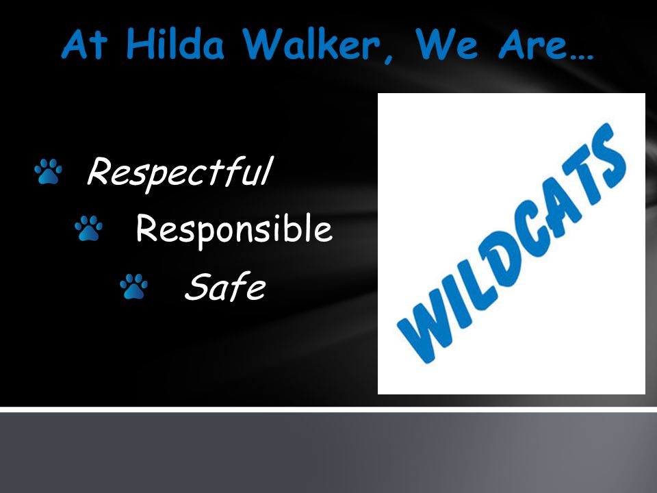 Respectful Responsible Safe At Hilda Walker, We Are…