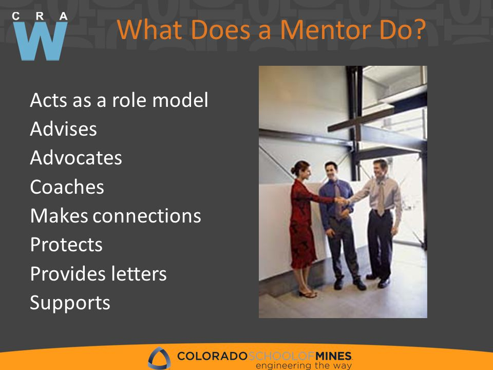 What Does a Mentor Do.