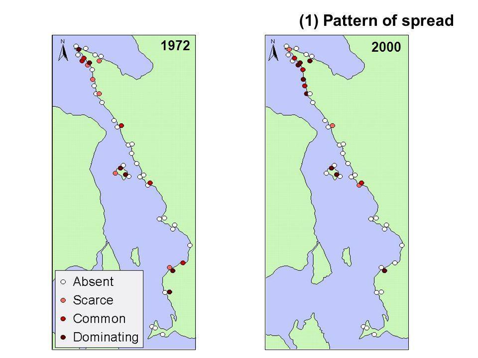 1972 2000 (1) Pattern of spread