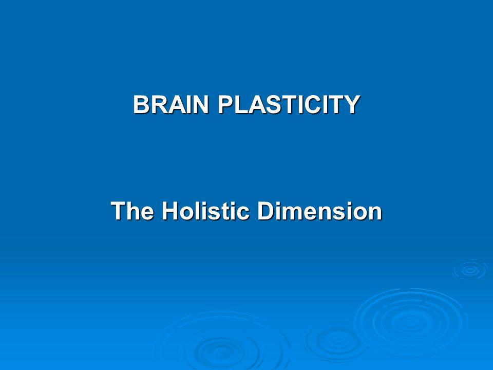 BRAIN PLASTICITY The Holistic Dimension