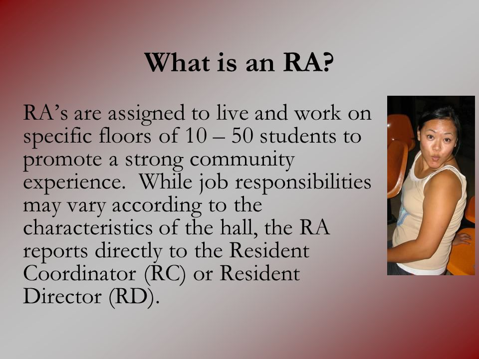 What is an RA.