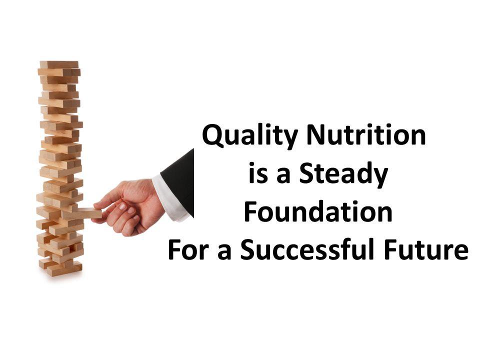 Quality Nutrition is a Steady Foundation For a Successful Future