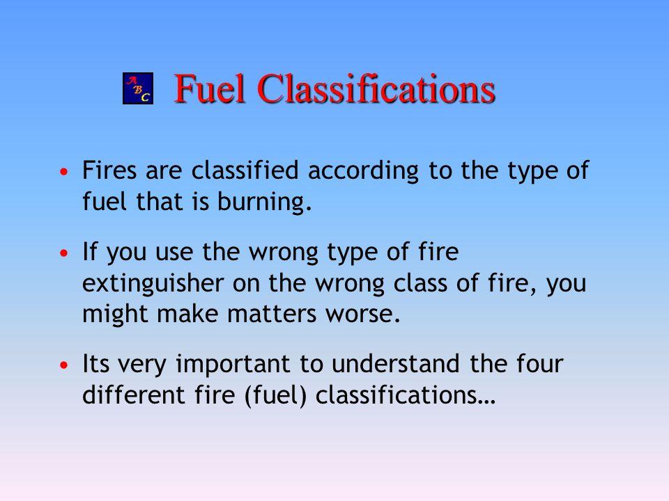 Fuel Classifications Class A: Wood, paper, cloth, trash, plastics— solids that are not metals.