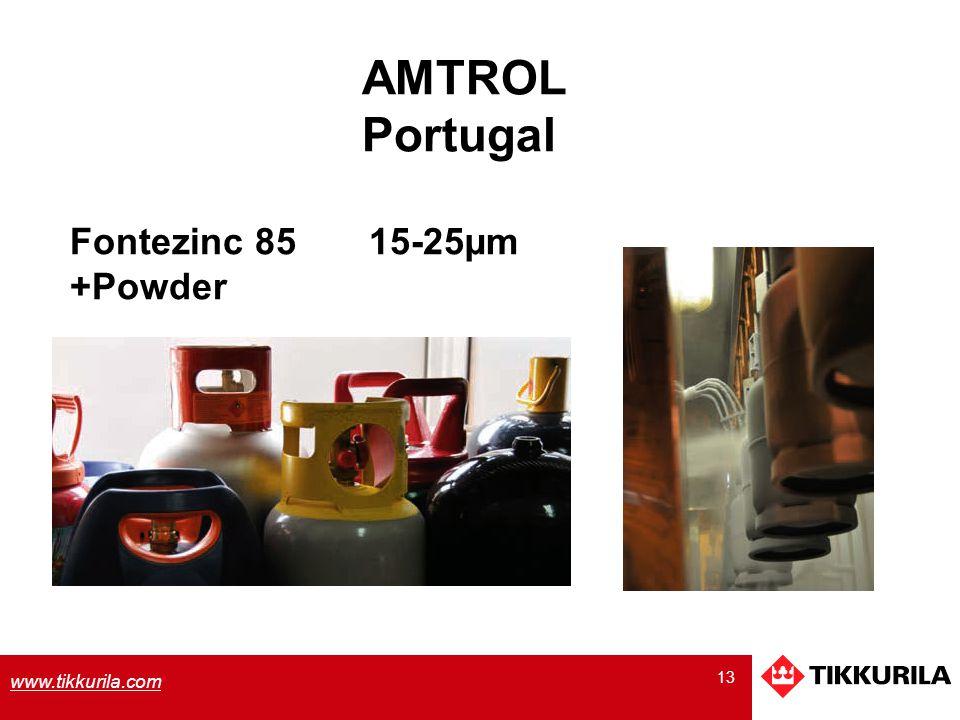13 www.tikkurila.com Fontezinc 85 15-25µm +Powder AMTROL Portugal