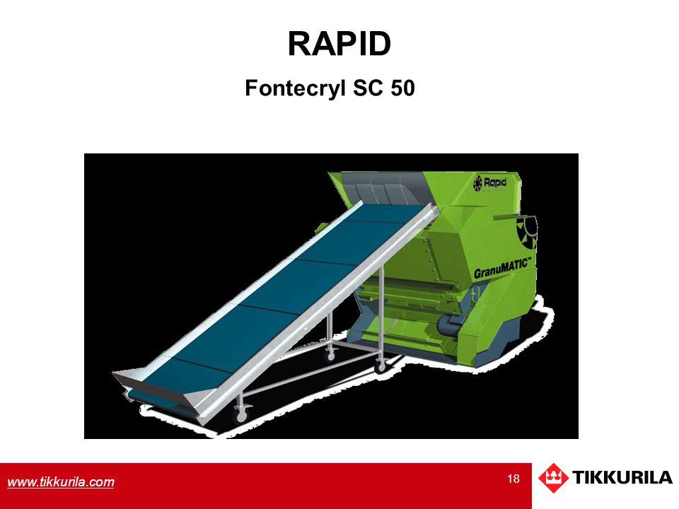 18 www.tikkurila.com RAPID Fontecryl SC 50