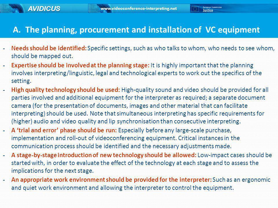 www.videoconference-interpreting.net AVIDICUS A.