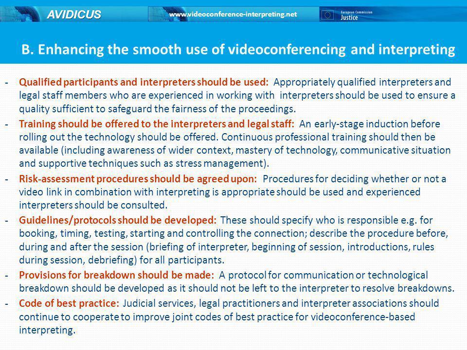 www.videoconference-interpreting.net AVIDICUS B.