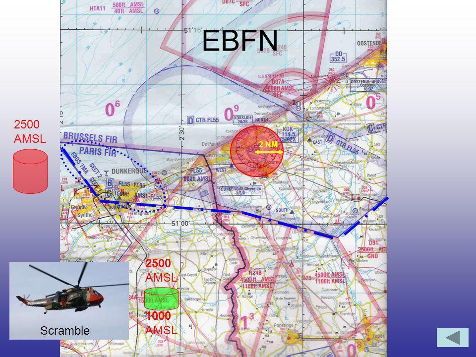 EBFN 2500 AMSL 1000 AMSL Scramble 2 NM