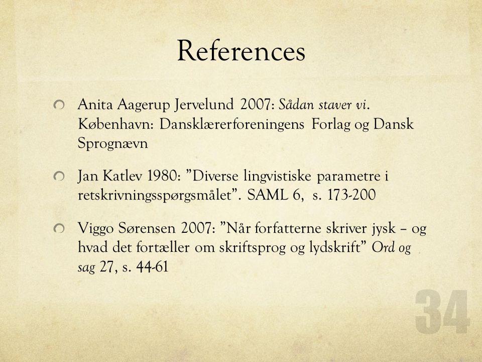 References Anita Aagerup Jervelund 2007: Sådan staver vi.