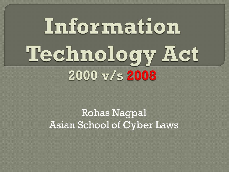 Rohas Nagpal Asian School of Cyber Laws