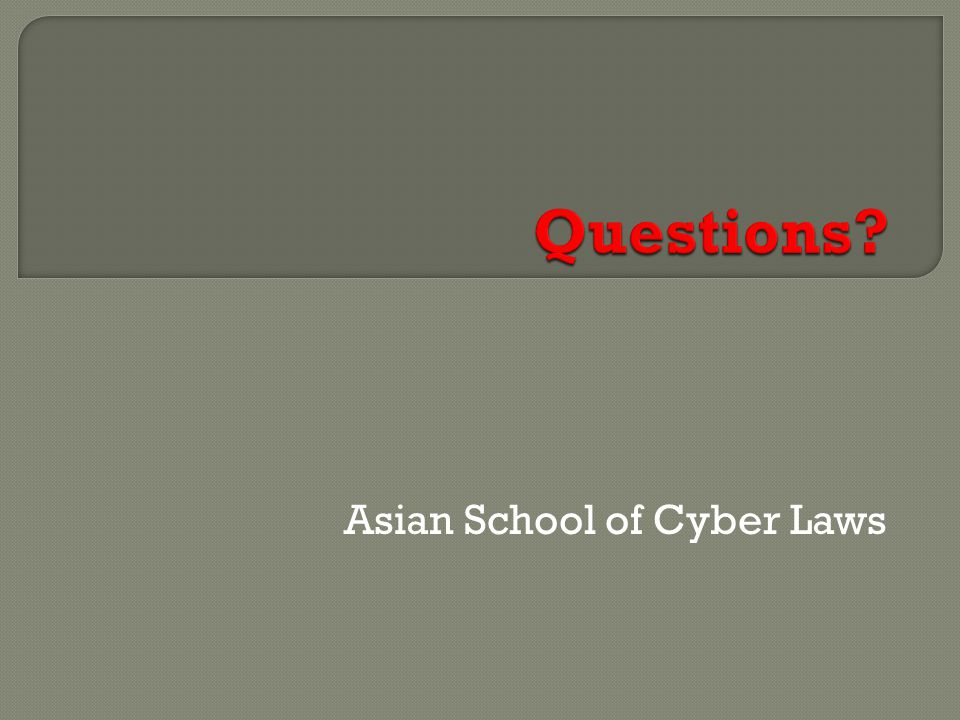 Asian School of Cyber Laws