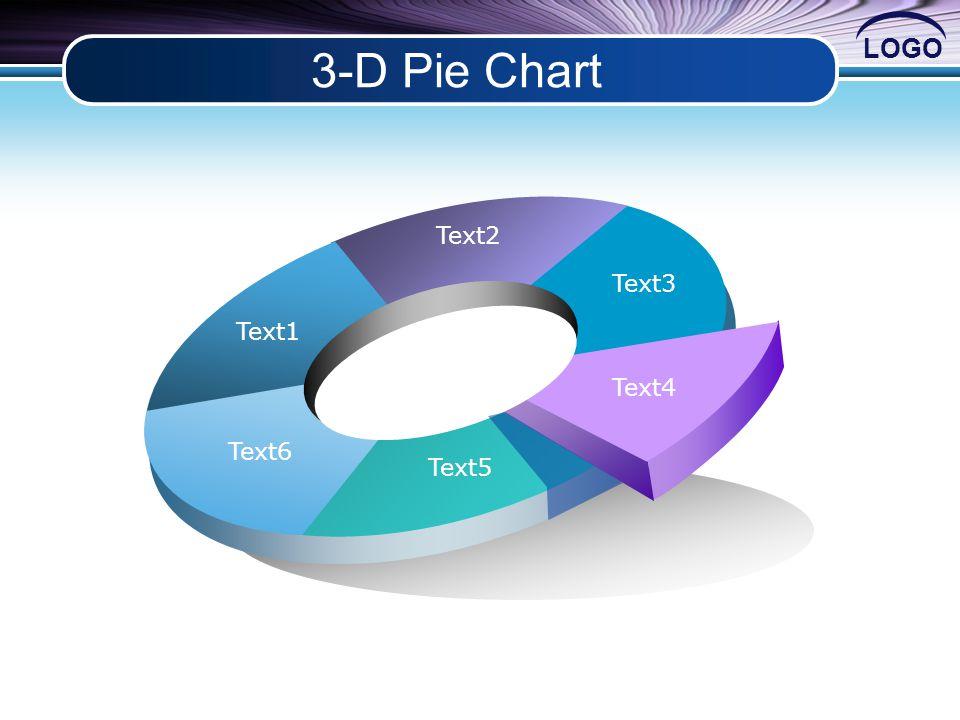 LOGO 3-D Pie Chart Text1 Text2 Text3 Text4 Text5 Text6